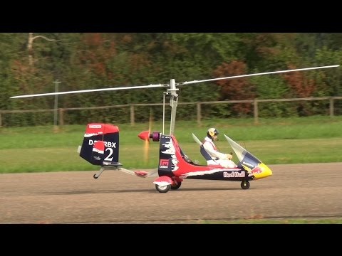Rotorwings AutoGyro RED BULL HUGE RC SCALE MODEL Flugshow Ha