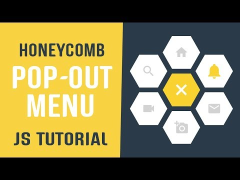 Honeycomb Pop-Out Menu Javascript | CSS Menu Design | Javascript Tutorial