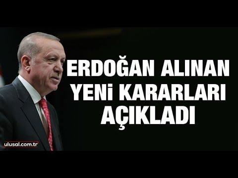 Cumhurbaşkanı Erdoğan açıkladı! 65 yaş üstü ve 18 yaş altı sokağa çıkma yasağı k
