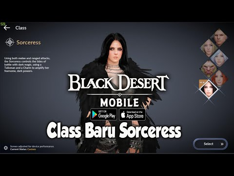 Cobain CLass Baru Sorceress - Black Desert MOBILE (SEA) Android - 동영상