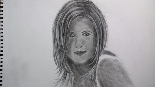 How to Draw Jennifer Aniston Speed Drawing
