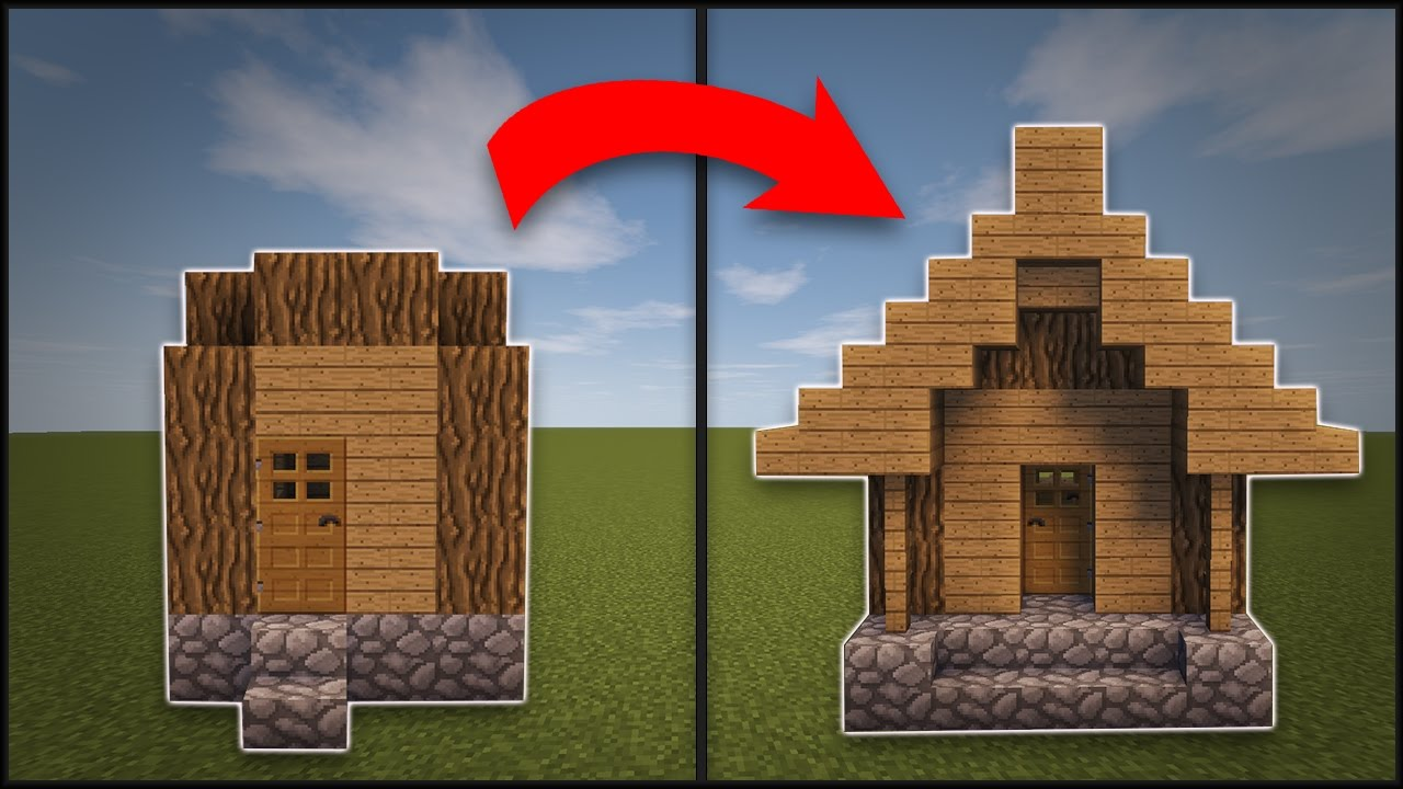 Minecraft how to remodel a village hut youtube for How to redesign your house