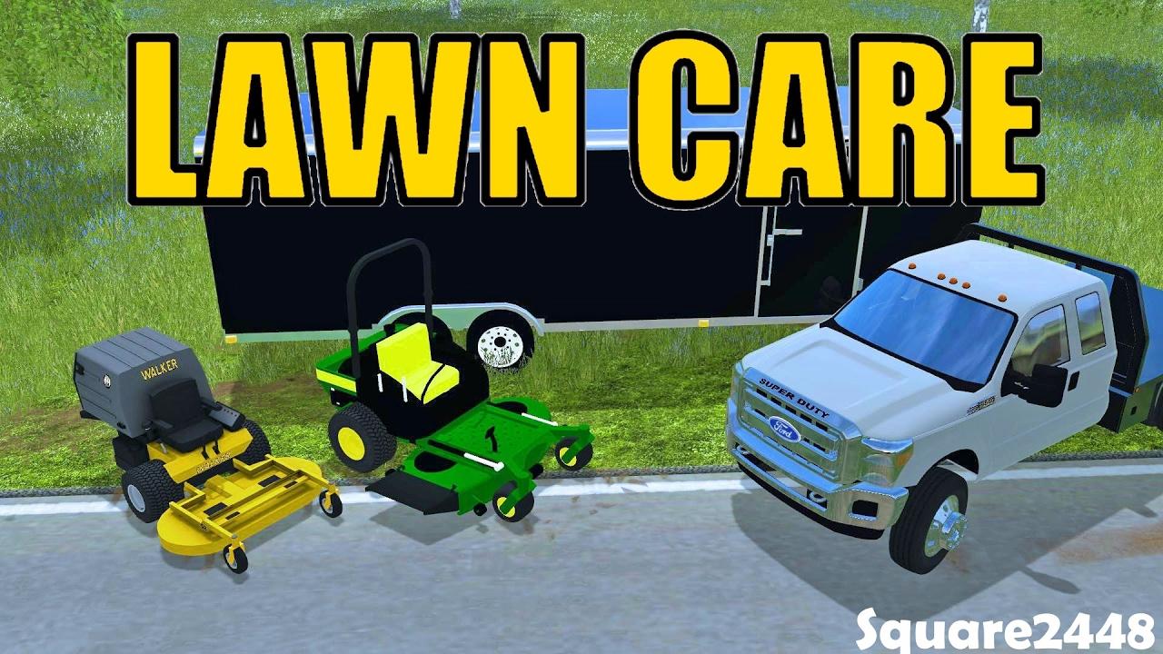 Farming simulator 2017 lawn care jd zero turn walker mower youtube publicscrutiny Image collections