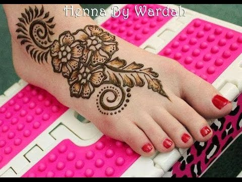 Leg Mehndi Design Simple Arabic