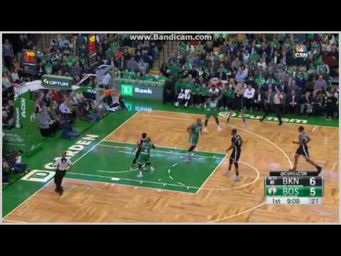 Bojan Bogdanovic nice 3-pointer - Boston Celtics vs. Brooklyn Nets - NBA 26/10/2016