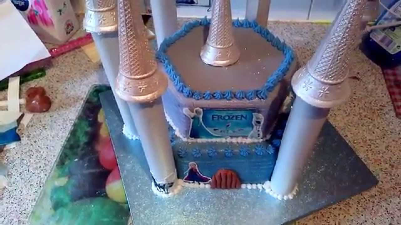 Disneys Frozen Castle cake YouTube