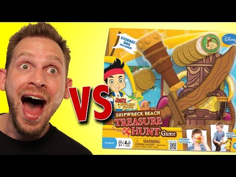 Jake and The Neverland Pirates Shipwreck Beach Treasure Hunt Game Unboxing