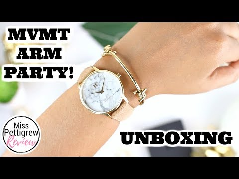 MVMT: New Marble Face Womens Watch & Barbed Bracelet Unboxing, Review & Discount Code!