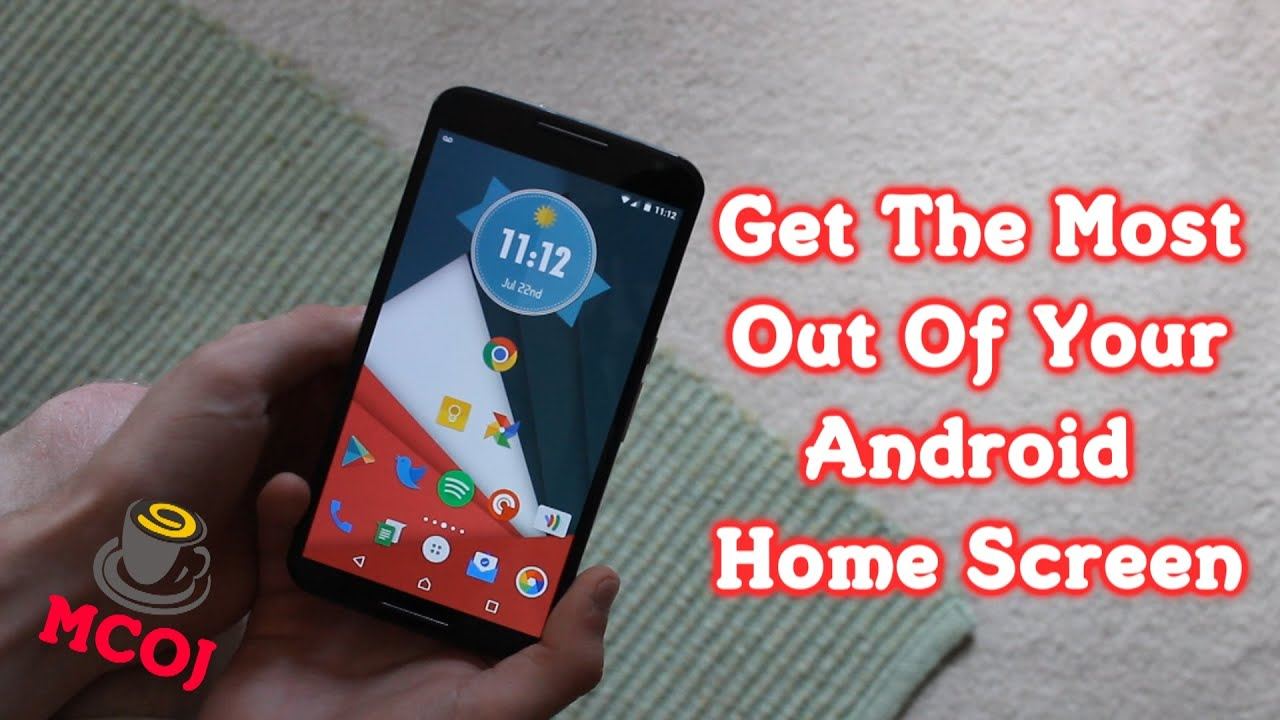 how to make android home screen