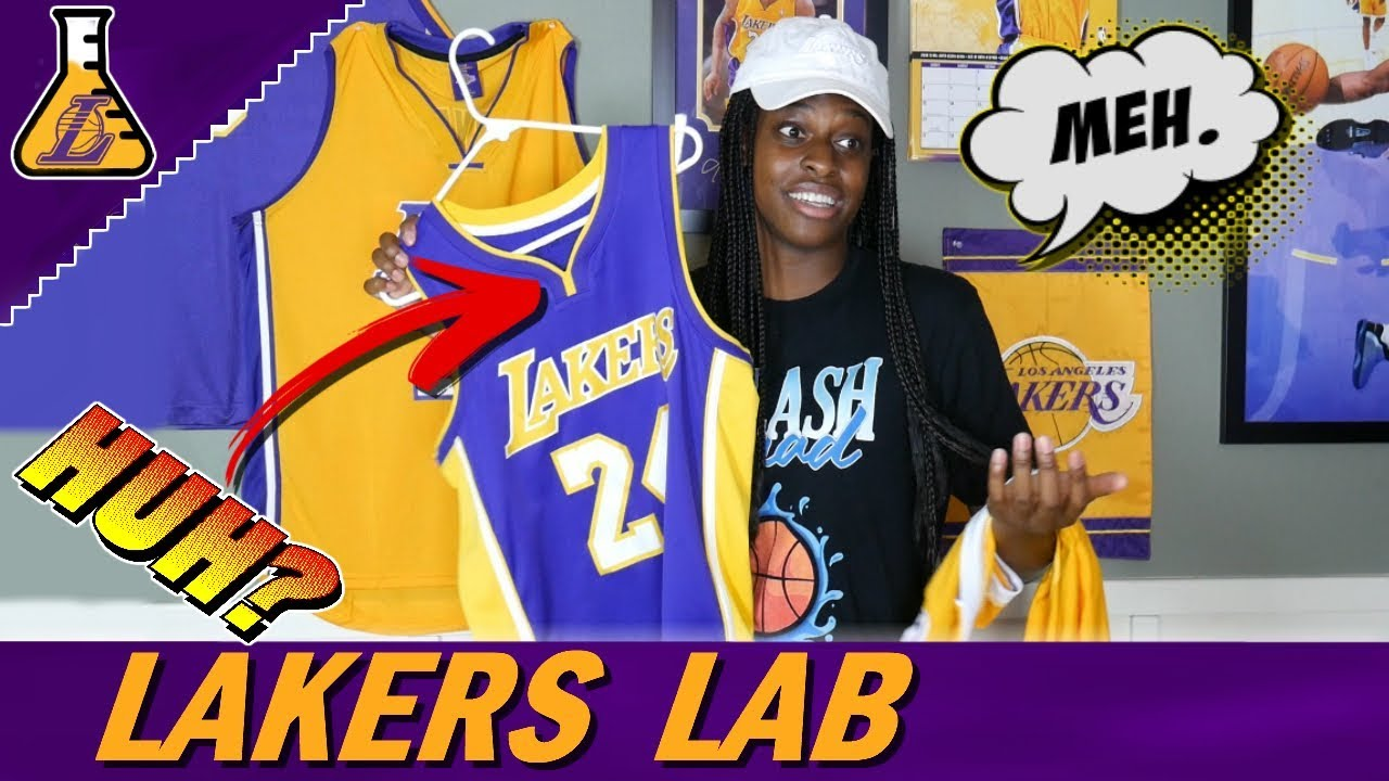 LAKERS FAN REVIEWS NEW JERSEYS! WHY DID YALL CHANGE THIS!!! - YouTube 9bd747c78