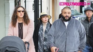 DJ Khaled & Fiancé Nicole Tuck Go Christmas Shopping On Rodeo Drive In Beverly Hills 11.27.16 Video