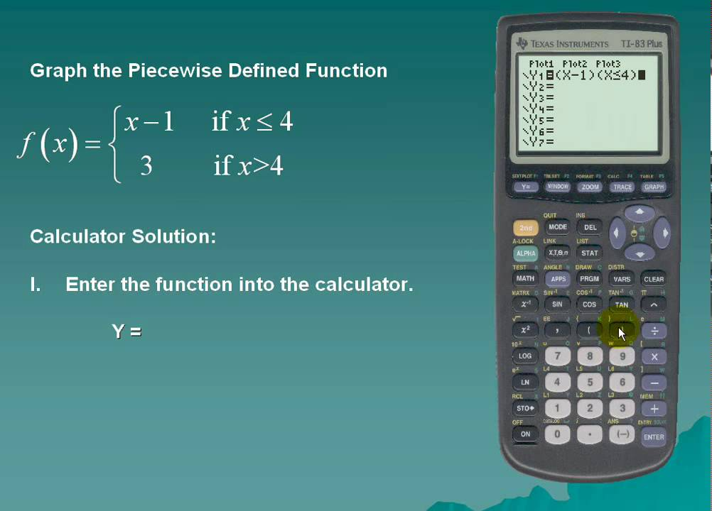 Piecewise and Step Functions using the TI-83/84 - YouTube