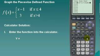 Piecewise And Step Functions Using Ti