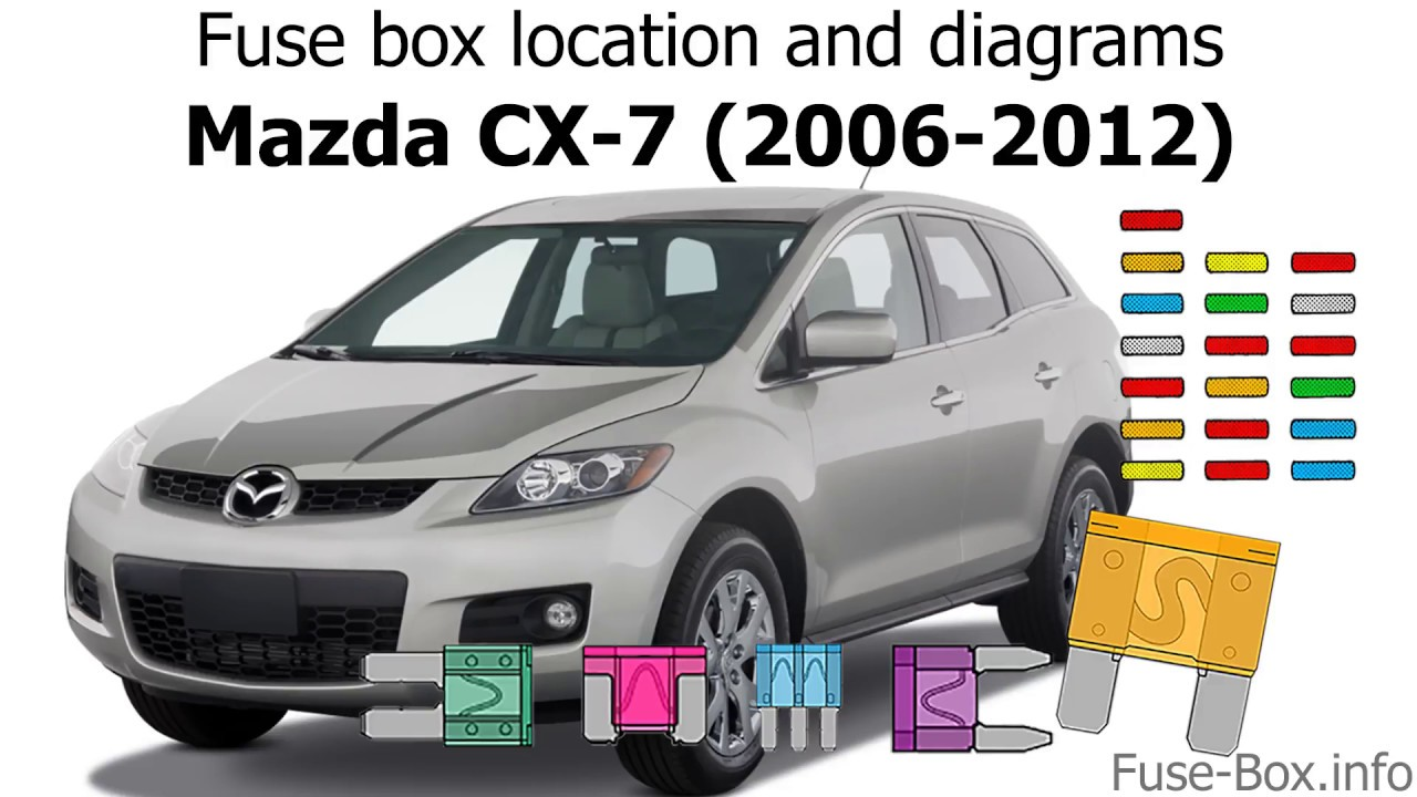 medium resolution of fuse box location and diagrams mazda cx 7 2006 2012 youtube 2011 mazda cx 7 fuse diagram