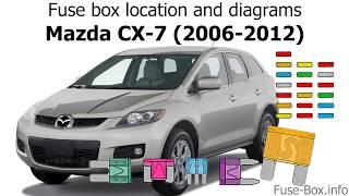 Fuse box location and diagrams: Mazda CX-7 (2006-2012) - YouTubeYouTube