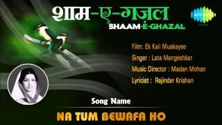 Na Tum Bewafa Ho | Shaam-E-Ghazal | Ek Kali Muskayee | Lata Mangeshkar