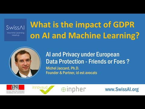 What is the impact of GDPR on AI and Machine Learning?