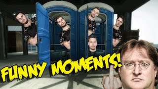 cs go funny moments ninjas in the toilets trolled by gaben haircut microphone funtage
