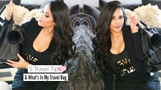 5 Travel Tips For International Flights & What's In My Travel Bag  -  Packing Tips -  MissLizHeart