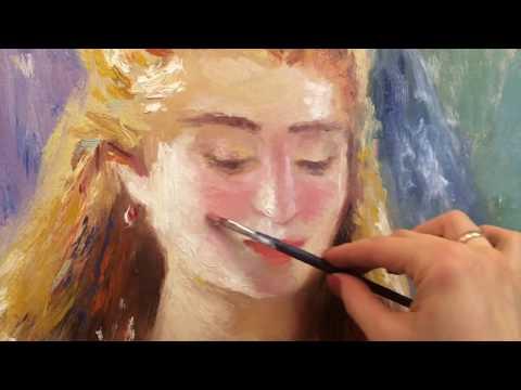 Портрет в импрессионизме смайлик лица , портрет Ренуара, Фания Сахарова