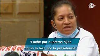A seis años de la desaparición de los 43 estudiantes, María Martínez pidió al Ejecutivo federal acelerar las indagatorias porque, señaló, no se está pidiendo nada material, sino que se haga válido el derecho del acceso a la justicia