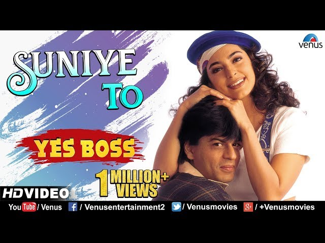 Suniye To - HD VIDEO | Shah Rukh Khan & Juhi Chawla | Yes Boss | 90's Bollywood Romantic Song
