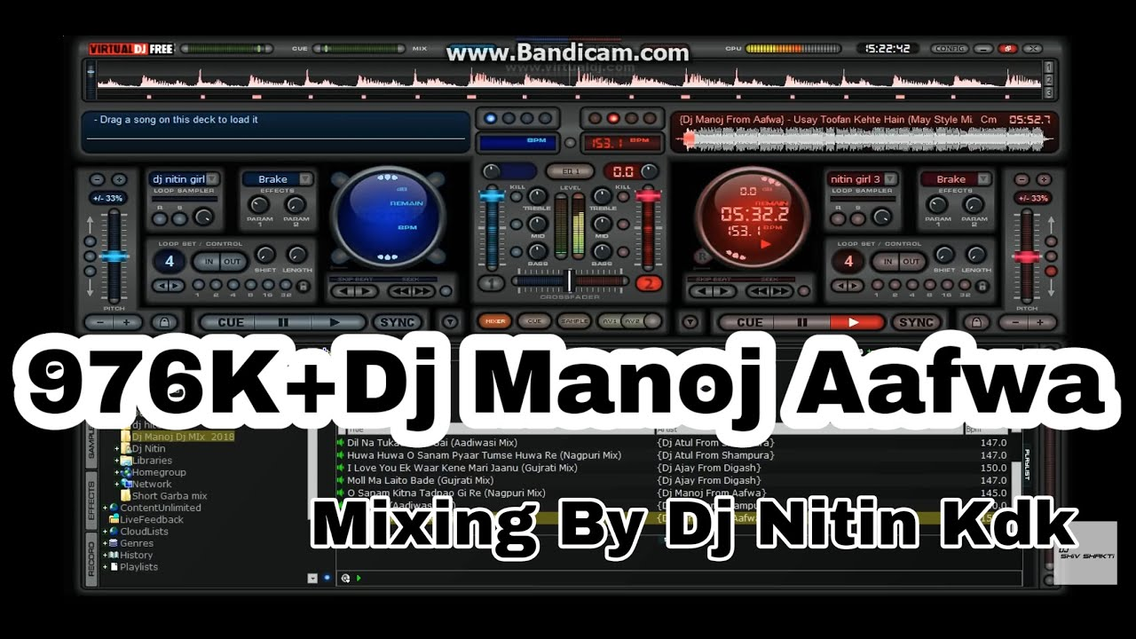 Dj Nitin Mixing Song By Dj Manoj Aafwa (Part 1) #1