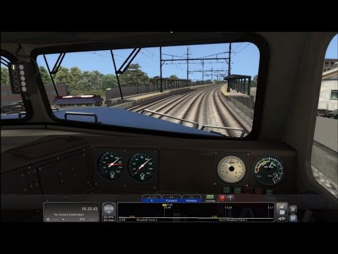 TS2016 HD: Operating Amtrak GE Dash 8-32BWH 512 on Pennsylvanian Train 42 (PHL - NYP) Timelapse 4x