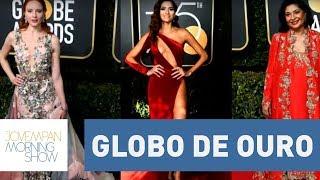 Saiba por que 3 mulheres não se vestiram de preto no Globo de Ouro 2018