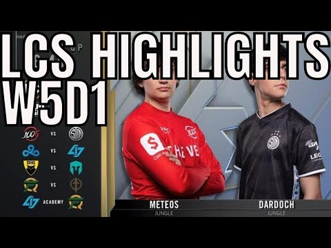 LCS Highlights ALL GAMES Week 5 Day 1 Spring 2020 League of Legends Championship Series