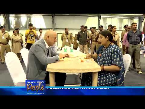 Anupam Kher's 'People' with the charismatic Smriti Zubin Irani