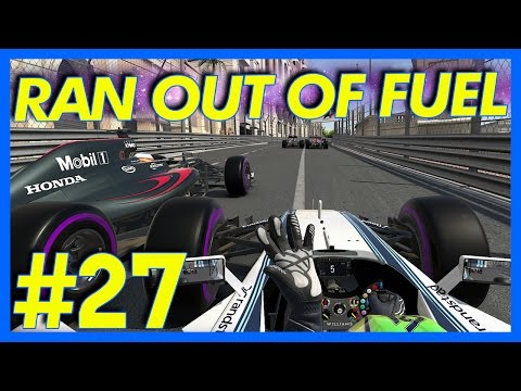 F1 2016 Career Mode : RAN OUT OF FUEL!!! (Part 27)