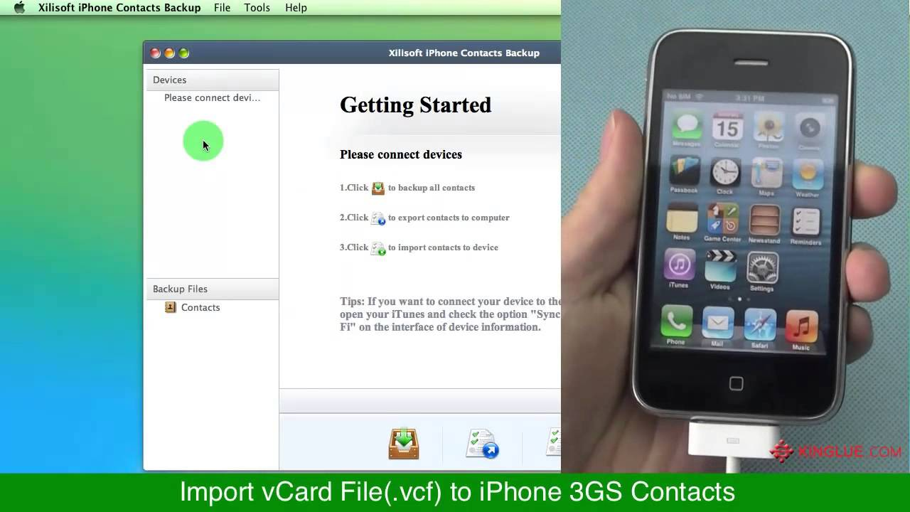 how to delete contacts from iphone 3gs