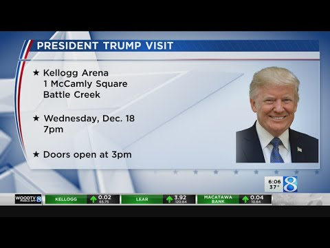 """Trump To Host """"Merry Christmas Rally"""" In Battle Creek"""