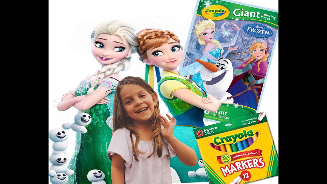 frozen crayola giant coloring book youtube - Giant Coloring Book