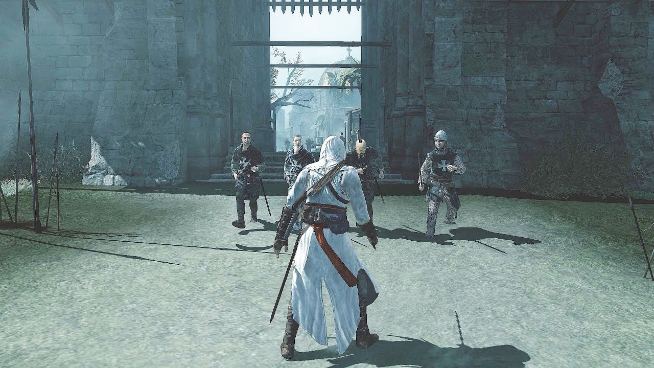 Assassin's Creed 1 Legendary Assassin Altair Combat, Stealth Kills & Free  Roam - YouTube