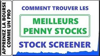 COMMENT FAIRE LES SETTINGS DE MON STOCK SCREENER ET TROUVER LES PENNY STOCKS GAGNANT AVEC QUESTRADE