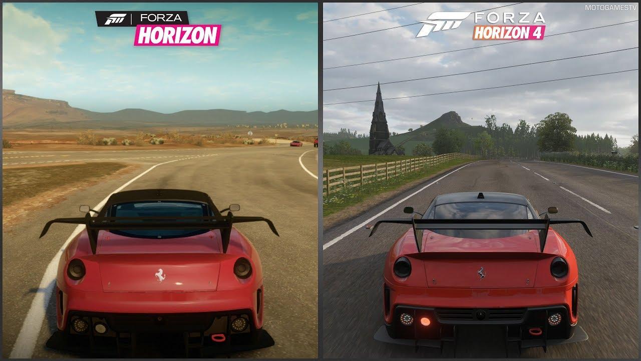 Forza Horizon Vs Forza Horizon 4 2012 Ferrari 599xx Evoluzione Sound Comparison Youtube