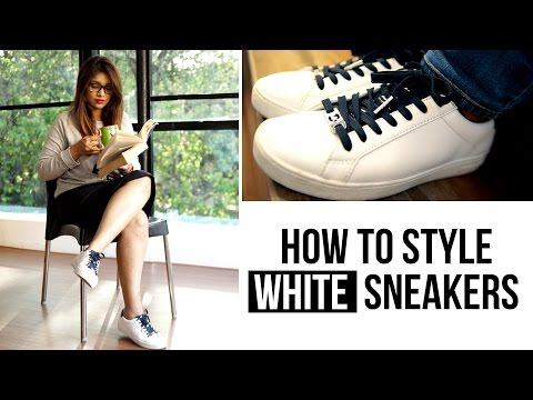 How To Style: White Sneakers | Michael Kors Irving Leather Sneaker | Women's Fashion