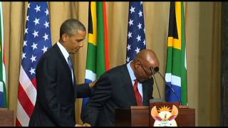 President Barack Obama visits South Africa