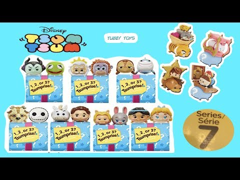 Disney TSUM TSUM SERIES 7! TSUMPRISE 7-PACK SETS MARVEL SERIES 4 HUGE TOY Tsums UNBOXING Tubey Toys