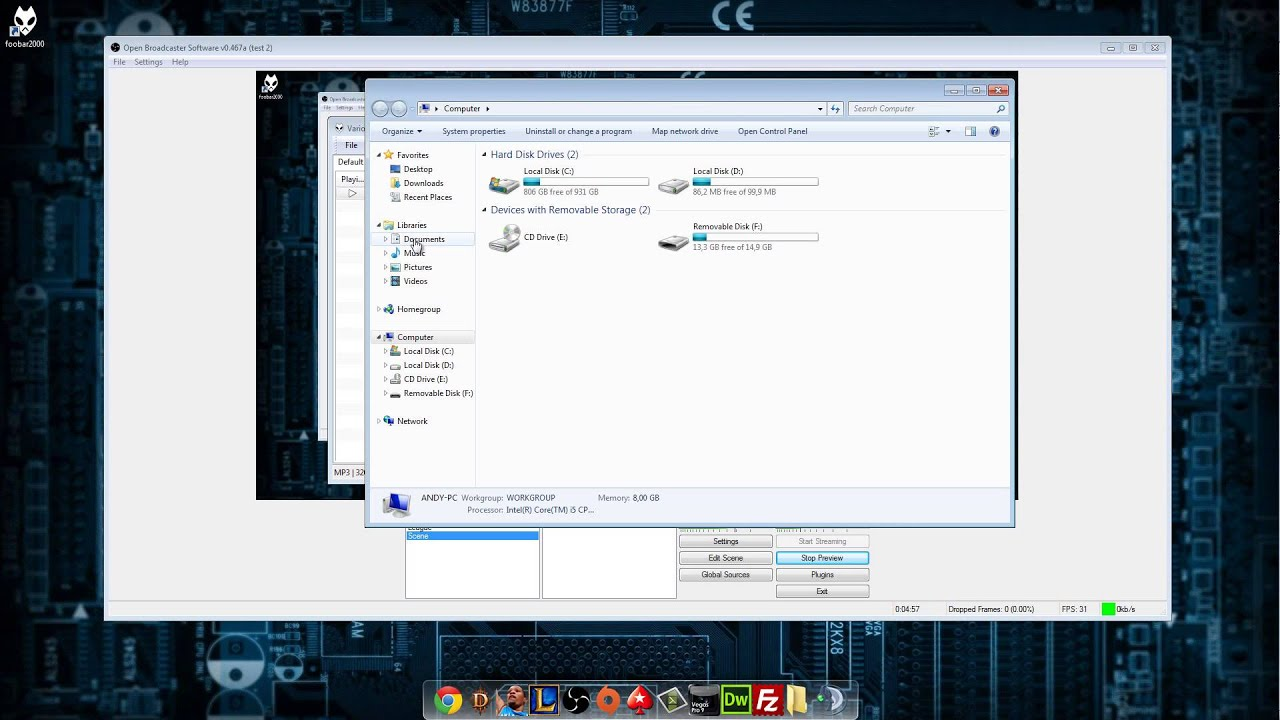 How to get foobar2000 to work with OBS