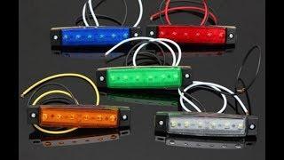 Светодиодные габариты, стоп, повороты. 6 LED. для Электровелосипеда С Алиэкспресс.