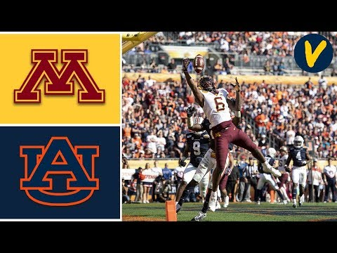 #18 Minnesota Vs #12 Auburn Highlights | 2020 Outback Bowl Highlights | College Football
