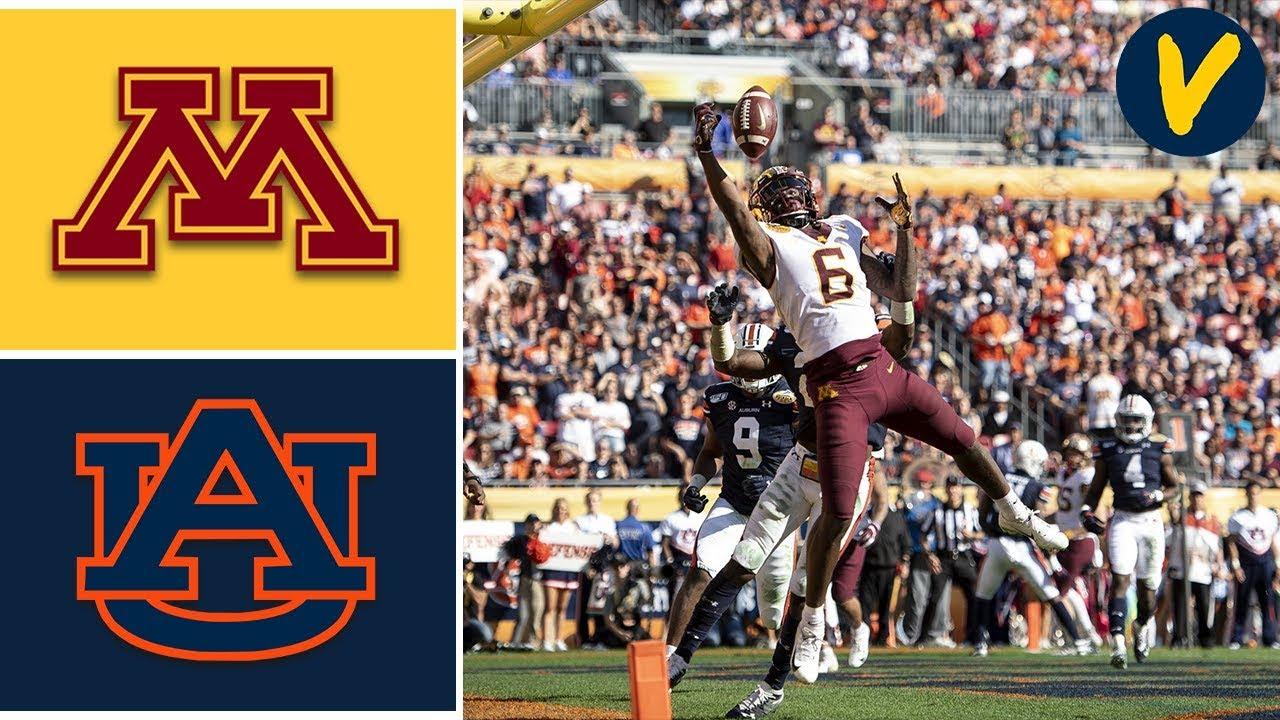 #18 Minnesota vs #12 Auburn Highlights | 2020 Outback Bowl Highlights | College Football