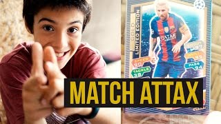 UNBOXING ALBUM TOPPS MATCH ATTAX UEFA CHAMPIONS LEAGUE CON CROMO LEO MESSI GOLDEN EDITION