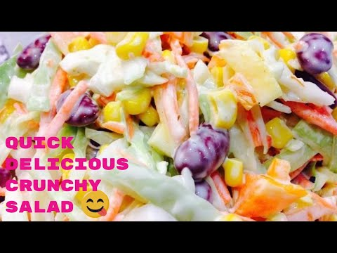 5 Min Super Easy Crunchy and Healthy Salad