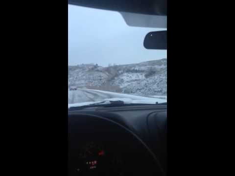 Hwy 85 badlands breaks little Missouri River ND snow storm