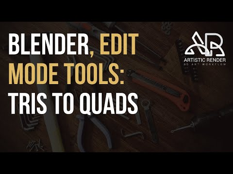 Blender - Tris To Quads, Edit Mode Tool Explained