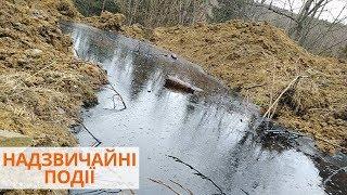 Разлив нефти в реку под Ивано-Франковском, под угрозой водоснабжения в городе